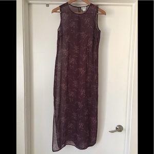 LOFT Full Length Floral Dress